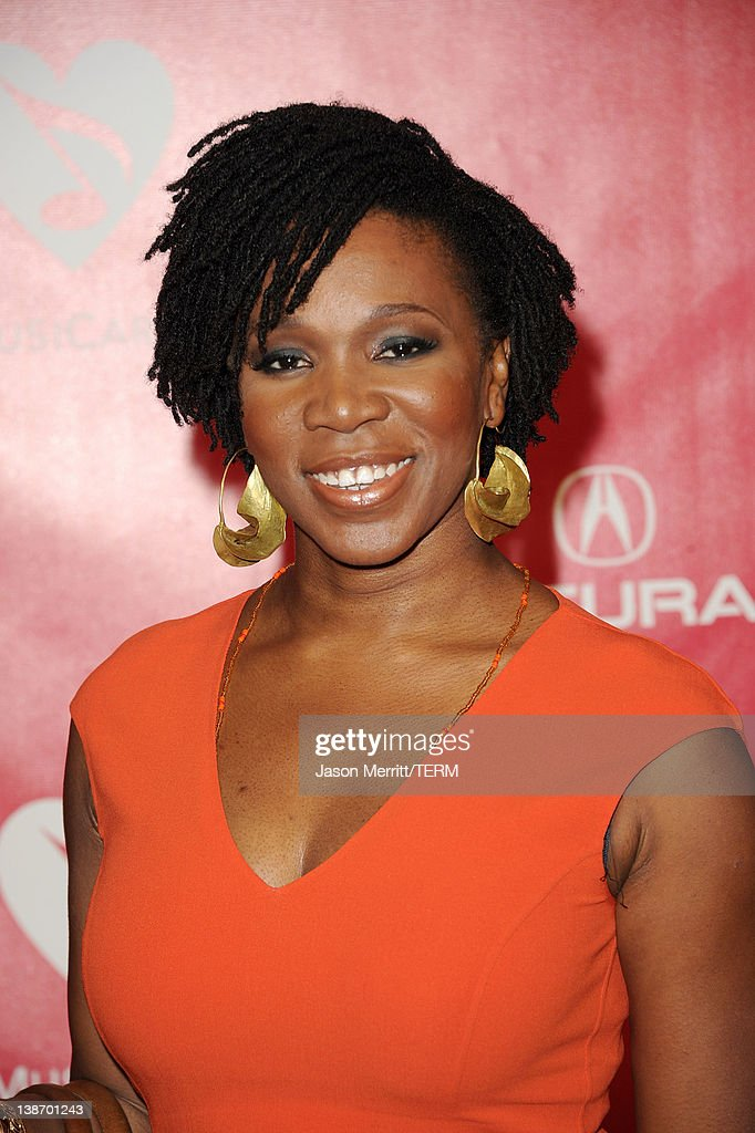 Singer India Arie arrives at the 2012 MusiCares Person of the Year Tribute To Paul McCartney held at the Los Angeles Convention Center on February 10, 2012 in Los Angeles, California.