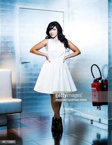 Singer Indila is photographed for Paris Match on March 03 2014 in Paris France