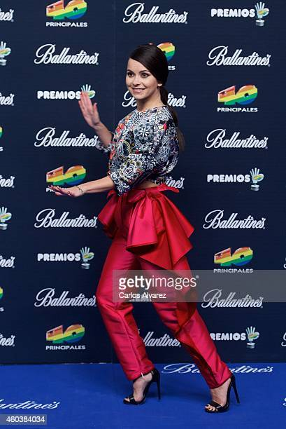 Singer Inna attends the '40 Principales' awards 2013 photocall at the Barclaycard Center on December 12 2014 in Madrid Spain