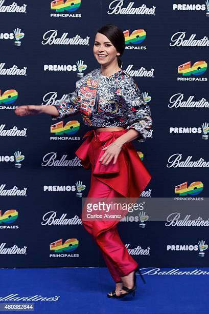 Singer Inna attends the 40 Principales Awards 2014 photocall at the Barclaycard Center on December 12 2014 in Madrid Spain