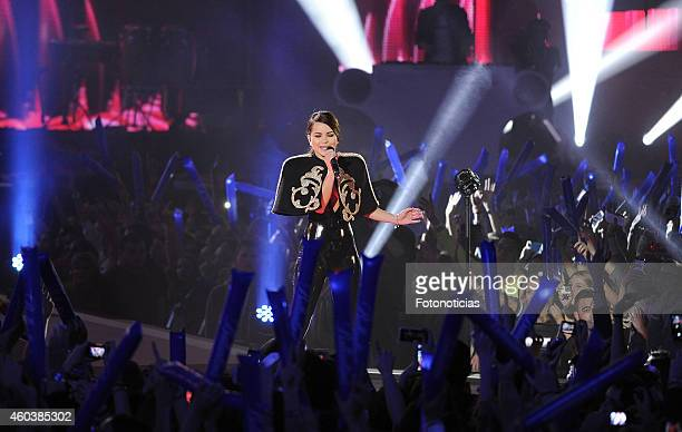 Singer Inna performs during the '40 Principales Awards' 2014 Gala at the Palacio de los Deportes on December 12 2014 in Madrid Spain