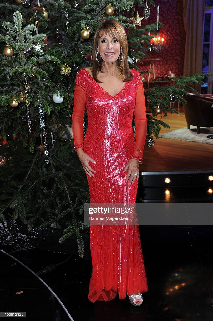 Singer Ireen Sheer attends the 'Heiligabend Mit Carmen Nebel' Show Taping at the Bavaria Studios on November 24, 2012 in Munich, Germany.