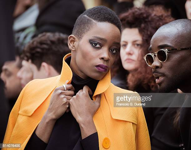 Singer Irma attends the John Galliano show as part of the Paris Fashion Week Womenswear Fall/Winter 2016/2017 on March 6 2016 in Paris France