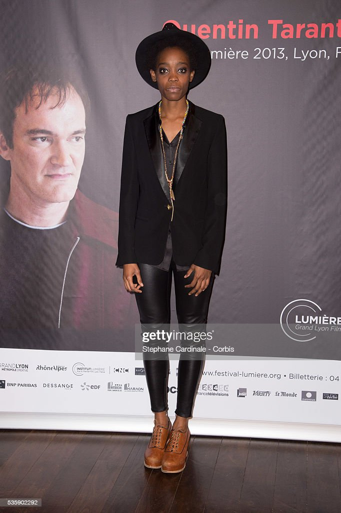 Singer Irma Pany attends the Tribute to Quentin Tarantino, during the 5th Lumiere Film Festival, in Lyon.