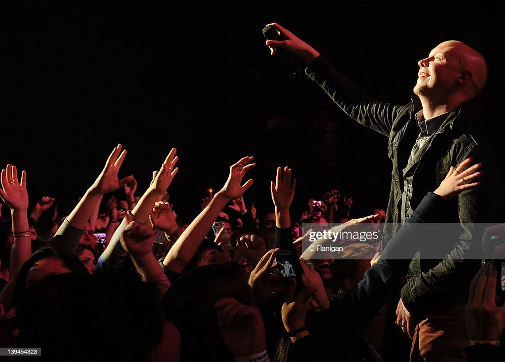 Singer Isaac Slade of The Fray performs at The Fox Theatre on February 20 2012 in Oakland California
