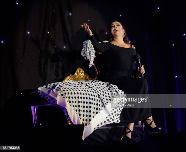 Singer Isabel Pantoja performs during her 'Hasta que se apague el sol' tour at WiZink Center on February 11 2017 in Madrid Spain