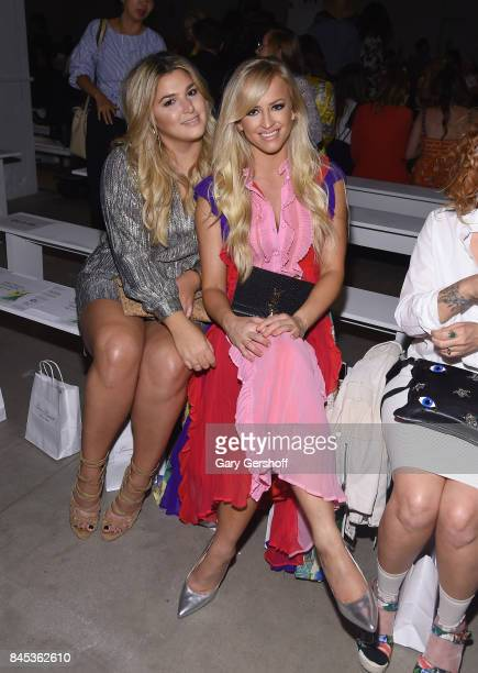 Singer Isabelle and Danielle Moinet attend the Leanne Marshall fashion show during New York Fashion Week at Gallery 2 Skylight Clarkson Sq on...
