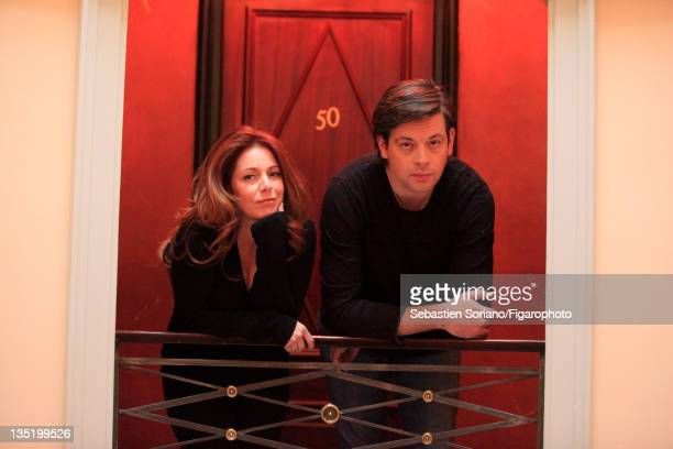 Singer Isabelle Boulay and singer/songwriter Benjamin Biolay are photographed for Le Figaro Magazine on October 21 2011 in Paris France Figaro ID...