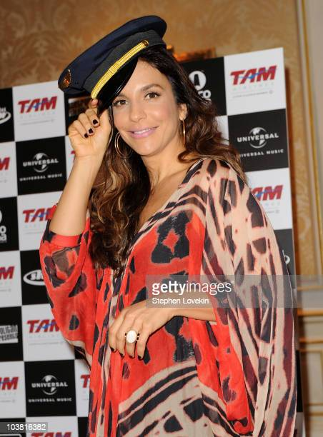Singer Ivete Sangalo attends the 'Multishow LiveIvete Sangalo at Madison Square Garden' press conference held at the Jumeirah Essex House on...