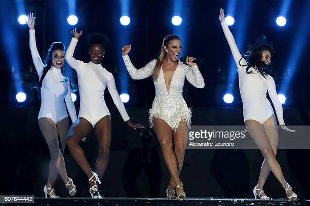 Singer Ivete Sangalo performs during the Closing Ceremony of the Rio 2016 Paralympic Games at Maracana Stadium on September 18 2016 in Rio de Janeiro...