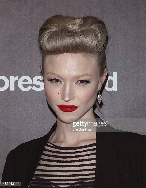 Singer Ivy Levan attends the 25th Anniversary Rainforest Fund Benefit at Mandarin Oriental Hotel on April 17 2014 in New York City