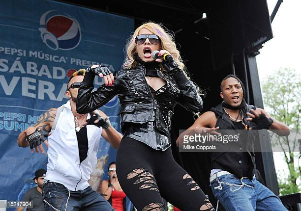 Singer Ivy Queen performs at Pepsi's Sabados De Verano Presents Ivy Queen on June 4 2011 in New York City