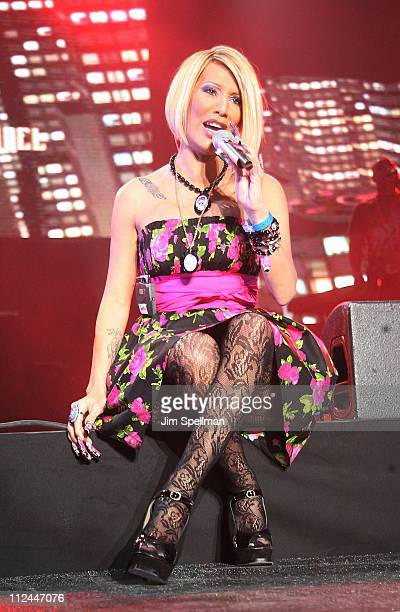 Singer Ivy Queen performs during a prePuerto Rican Day Parade celebration concert on June 7 2008 at Madison Square Garden in New York City