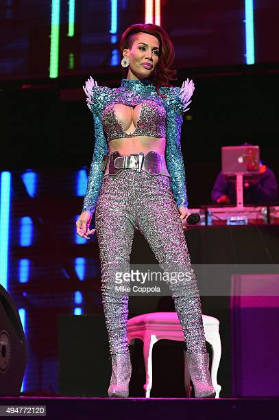 Singer Ivy Queen performs onstage during the Mega 979 Megaton Concert at Madison Square Garden on October 28 2015 in New York City