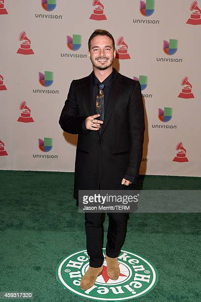 Singer J Balvin attends the 15th Annual Latin GRAMMY Awards at the MGM Grand Garden Arena on November 20 2014 in Las Vegas Nevada