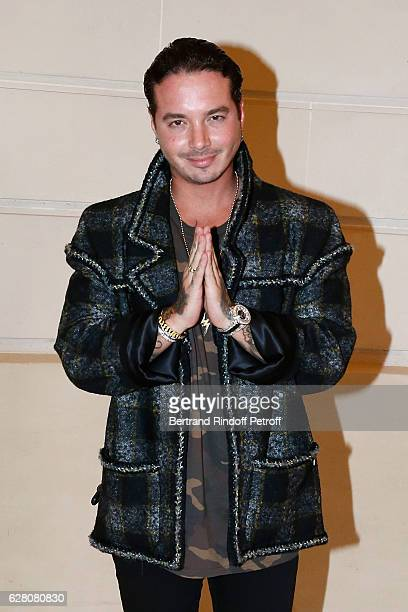 Singer J Balvin attends the 'Chanel Collection des Metiers d'Art 2016/17 Paris Cosmopolite' Photocall at Hotel Ritz on December 6 2016 in Paris France