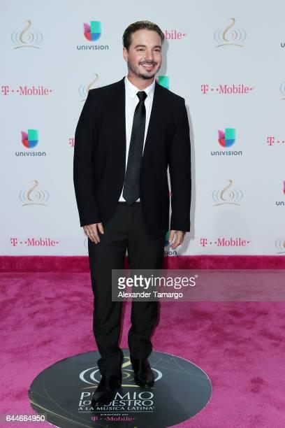 Singer J Balvin attends Univision's 29th Edition of Premio Lo Nuestro A La Musica Latina at the American Airlines Arena on February 23 2017 in Miami...