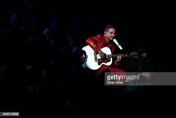 Singer J Balvin performs onstage during the 15th Annual Latin GRAMMY Awards at the MGM Grand Garden Arena on November 20 2014 in Las Vegas Nevada