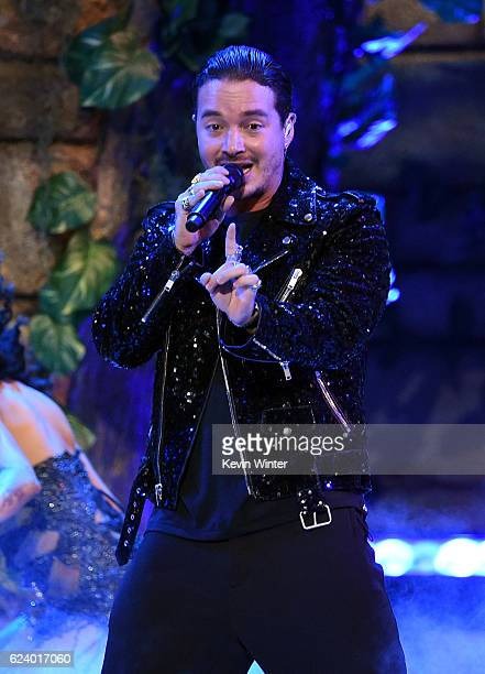 Singer J Balvin performs onstage during The 17th Annual Latin Grammy Awards at TMobile Arena on November 17 2016 in Las Vegas Nevada