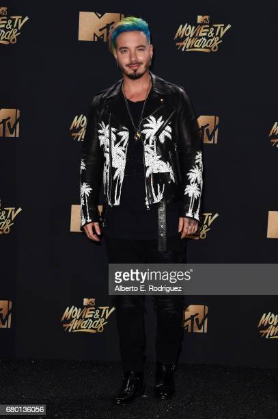 Singer J Balvin poses in the press room during the 2017 MTV Movie And TV Awards at The Shrine Auditorium on May 7 2017 in Los Angeles California