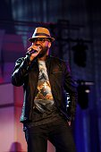 Singer J Moss performs during the Allstate Gospel SuperFest 2015 at House Of Hope Arena on MARCH 21 2015 in Chicago Illinois