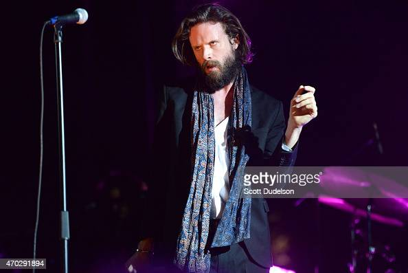 Singer J Tillman of Father John Misty performs onstage during day 2 of the Coachella Music Festival at The Empire Polo Club on April 18 2015 in Indio...
