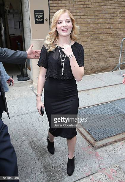Singer Jackie Evancho attends the taping which featured the return of Kelly Ripa to 'Live With Kelly And Michael' at ABC Studios on April 26 2016 in...