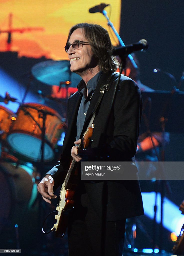 Singer Jackson Browne performs at the 28th Annual Rock and Roll Hall of Fame Induction Ceremony at Nokia Theatre L.A. Live on April 18, 2013 in Los Angeles, California.