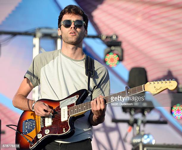 Singer Jackson Phillips of the band Daywave performs onstage at the Twilight Series at Santa Monica Pier on July 21 2016 in Santa Monica California