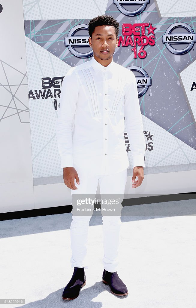 Singer <a gi-track='captionPersonalityLinkClicked' href=/galleries/search?phrase=Jacob+Latimore&family=editorial&specificpeople=5410256 ng-click='$event.stopPropagation()'>Jacob Latimore</a> attends the 2016 BET Awards at the Microsoft Theater on June 26, 2016 in Los Angeles, California.