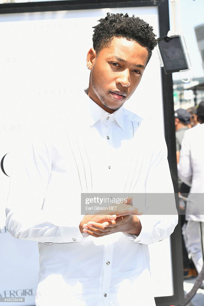 Singer <a gi-track='captionPersonalityLinkClicked' href=/galleries/search?phrase=Jacob+Latimore&family=editorial&specificpeople=5410256 ng-click='$event.stopPropagation()'>Jacob Latimore</a> attends the Cover Girl glam stage during the 2016 BET Awards at the Microsoft Theater on June 26, 2016 in Los Angeles, California.
