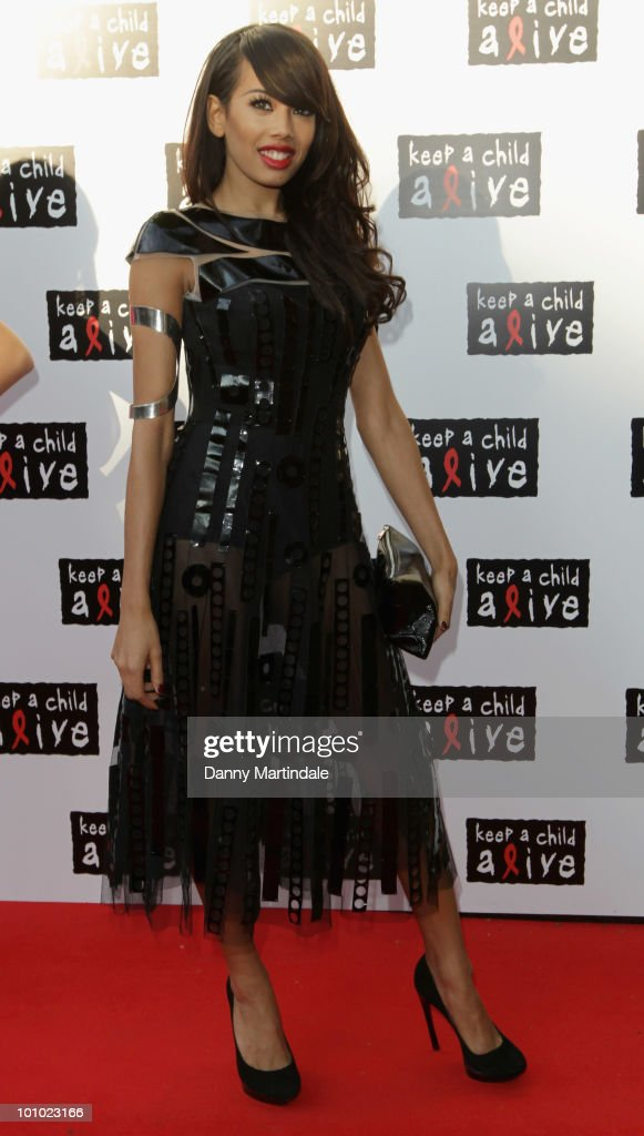 Singer Jade Ewen attends the Keep A Child Alive Black Ball fundraiser on May 27, 2010 in London, England.