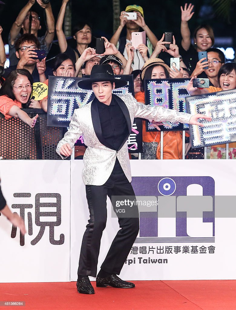 Singer Jam Hsiao arrives at the red carpet of the 25th Golden Melody Awards Global Music Festival at Taipei Arena on June 28 2014 in Taipei Taiwan