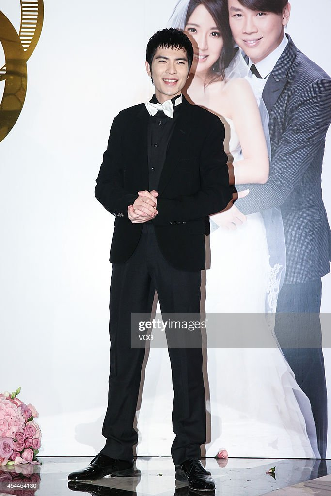 Singer Jam Hsiao attends singer David Tao's wedding on August 31 2014 in Taipei Taiwan of China