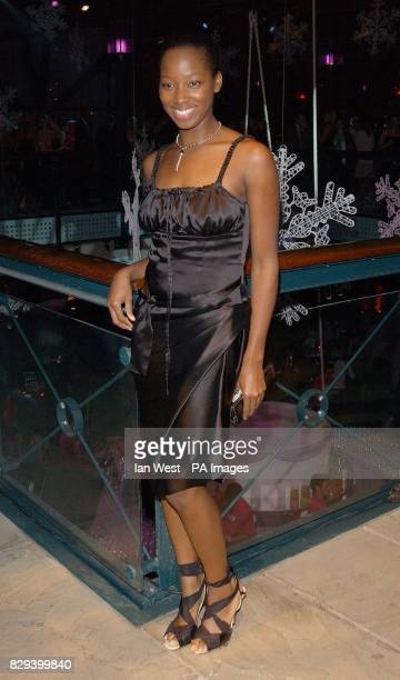 Singer Jamelia attends the afterparty for the film Bridget Jones The Edge Of Reason held at the Tobacco Dock in east London