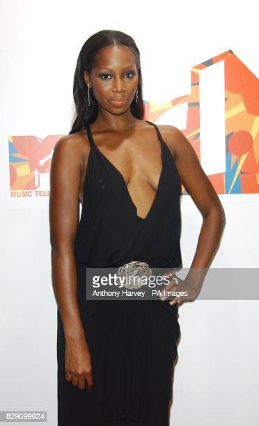 Singer Jamelia during her guest appearance on MTV's TRL Total Request Live show at their new studios in Leicester Square central London formerly the...