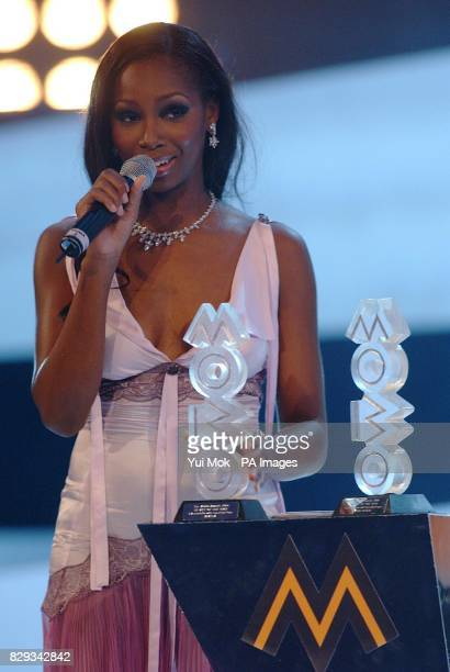 Singer Jamelia receives Best Video award for 'See It In A Boy's Eyes' and UK Act Of The Year which she shared with Dizzee Rascal during the MOBO...