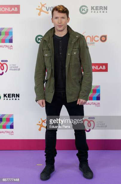 Singer James Blint attends the 'La Noche de Cadena 100' photocall at Wizink Center on March 25 2017 in Madrid Spain