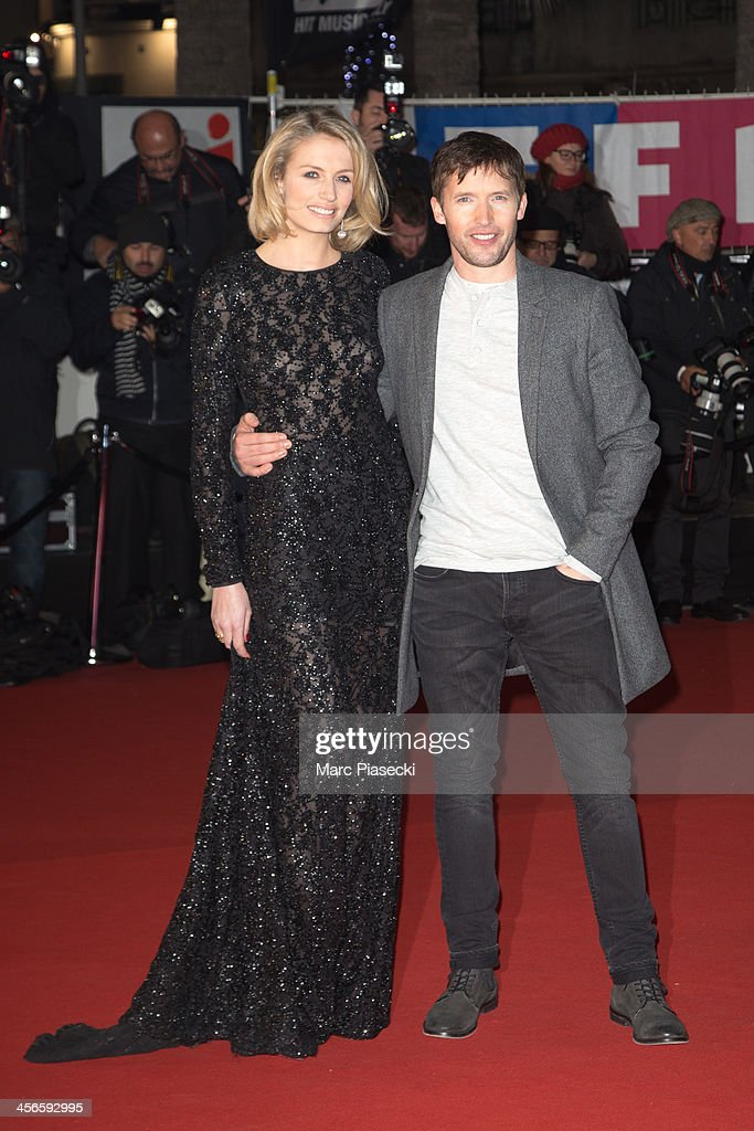 Singer James Blunt and Sofia Wellesley attend the 15th NRJ Music Awards at Palais des Festivals on December 14, 2013 in Cannes, France.