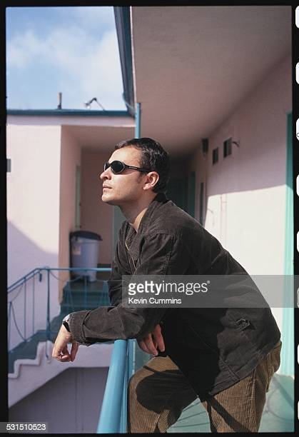 Singer James Dean Bradfield of Welsh alternative rock group the Manic Street Preachers Los Angeles California September 1996