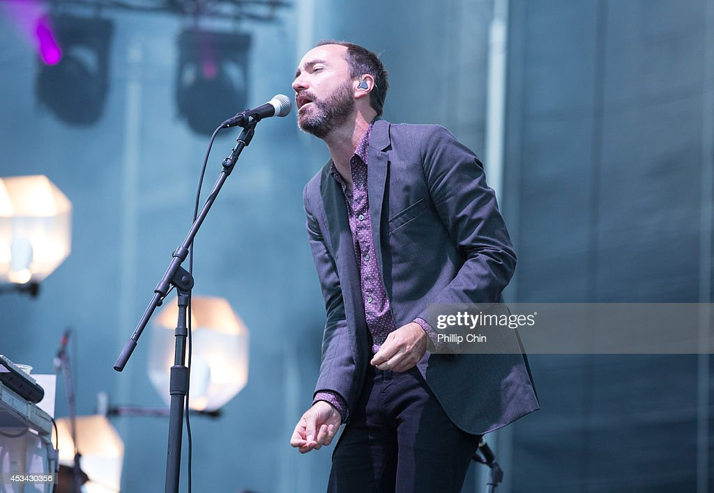 Singer James Mercer of Broken Bells performs at the Squamish Valley Music Festival on August 9, 2014 in Squamish, Canada.