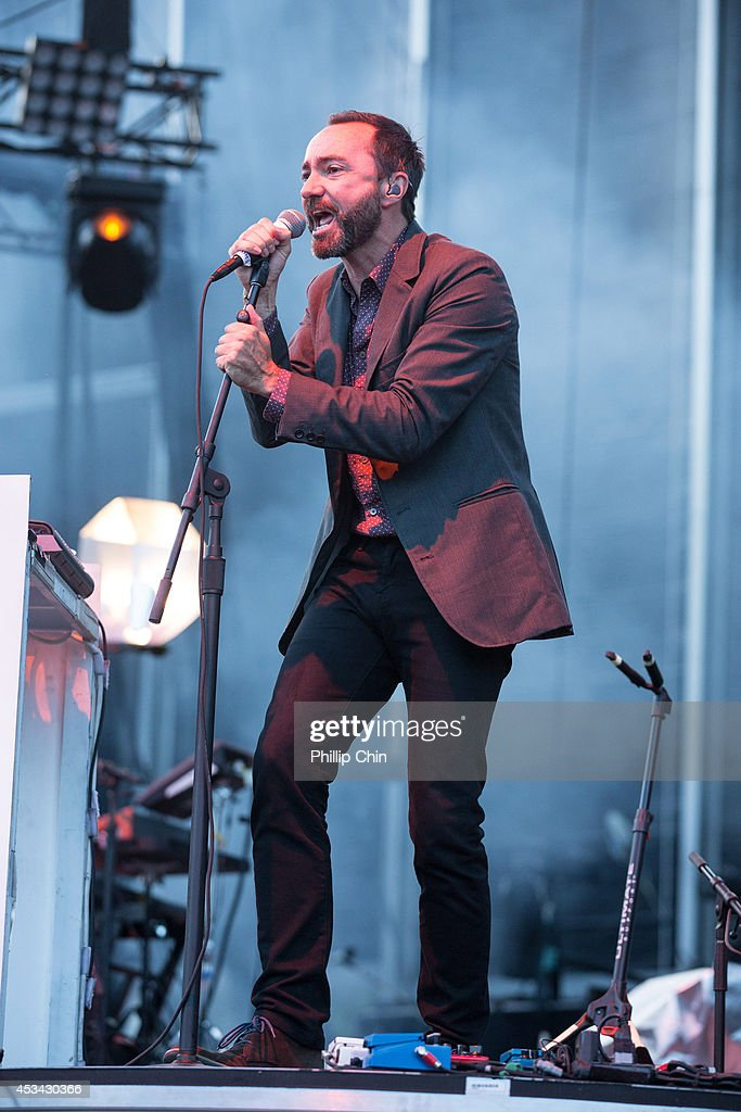 Singer <a gi-track='captionPersonalityLinkClicked' href=/galleries/search?phrase=James+Mercer&family=editorial&specificpeople=1295852 ng-click='$event.stopPropagation()'>James Mercer</a> of Broken Bells performs at the Squamish Valley Music Festival on August 9, 2014 in Squamish, Canada.