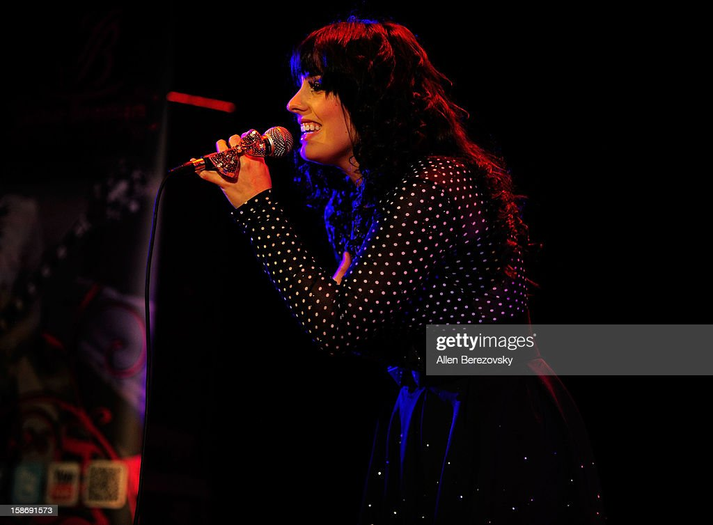 Singer Jamie Beeman opens for Rebecca Black at the House of Blues on December 23, 2012 in Anaheim, California.