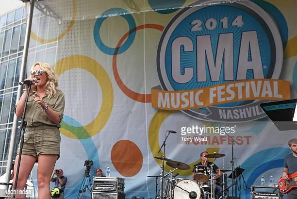 Singer Jamie Lynn Spears attends the 2014 CMA Festival on June 8 2014 in Nashville Tennessee