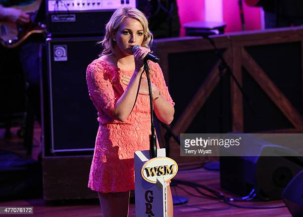Singer Jamie Lynn Spears performs during Opry At The Ryman Matinee show at Ryman Auditorium on June 13 2015 in Nashville Tennessee