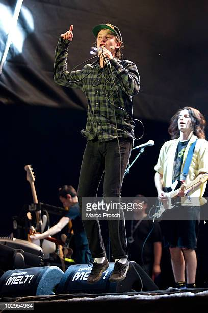 Singer Jamie T of the UK performs live on stage at the Melt festival in Ferropolis on July 17 2010 in Graefenhainichen Germany
