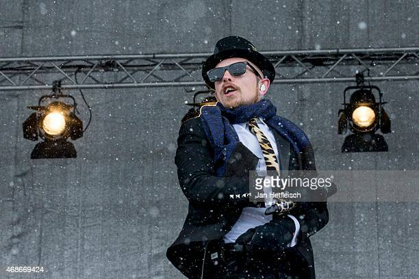 Singer Jan Delay performs live on stage during the Top of the Mountain Easter Concert on April 5 2015 in Ischgl Austria