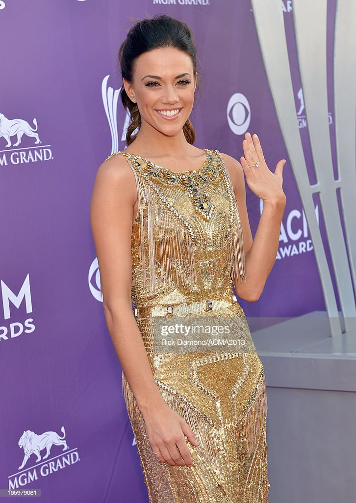 Singer Jana Kramer attends the 48th Annual Academy of Country Music Awards at the MGM Grand Garden Arena on April 7, 2013 in Las Vegas, Nevada.
