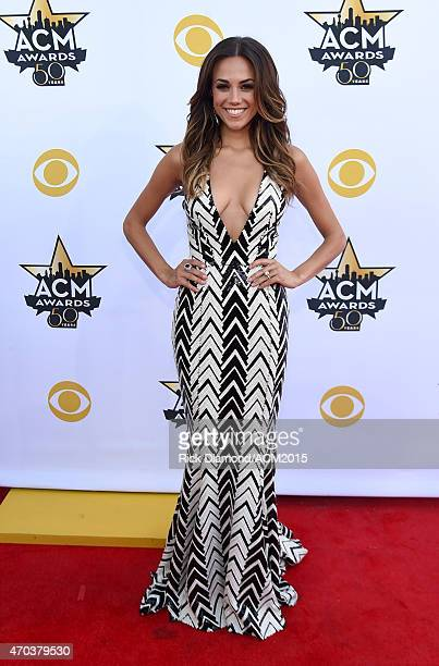 Singer Jana Kramer attends the 50th Academy of Country Music Awards at ATT Stadium on April 19 2015 in Arlington Texas