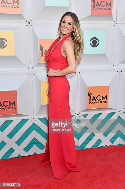 Singer Jana Kramer attends the 51st Academy of Country Music Awards at MGM Grand Garden Arena on April 3 2016 in Las Vegas Nevada